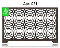 Декоративный экран на радиатор отопления из  МДФ (лазерная резка)