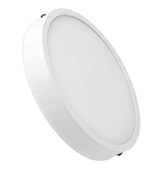 Светодиодный cветильник накладной Slim LUXEL 24W 4000K круглый белый Код.57548