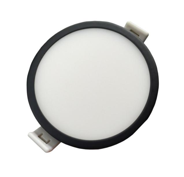 Светодиодная панель SLIM RIGHT HAUSEN HN-234022 12W 4000K круглый черный Код.57893