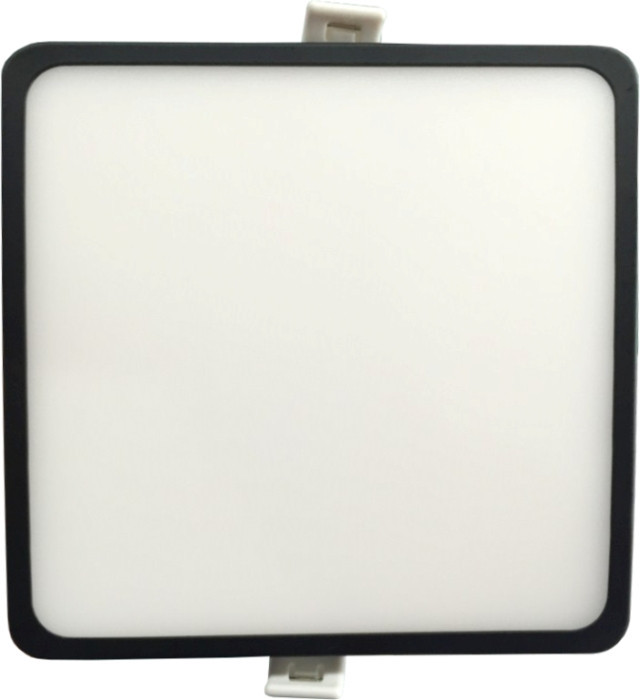 Светодиодная панель SLIM RIGHT HAUSEN HN-235012 6W 4000K квадратный черный Код.57894
