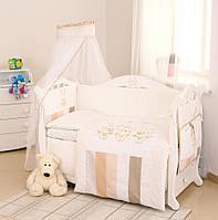 Детский постельный комплект Twins Dolce D-001 Друзья Зайчики, бежевый