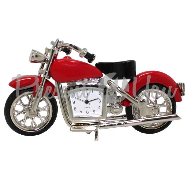 Мотоцикл с часами,h-10 см (210-6001)