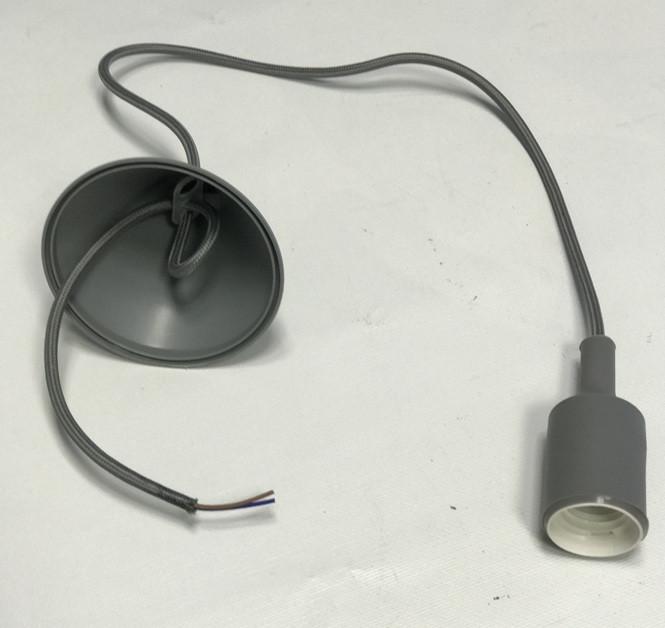 Декоративний підвіс для LED лампи SL-072 V-подібний Е27 сірий Код.58965