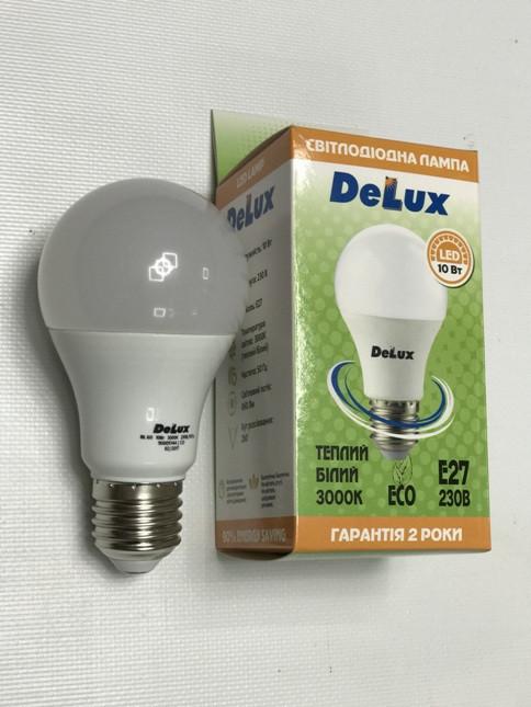 Светодиодная лампа Delux BL60 10W A60 3000K E27 Код.59002