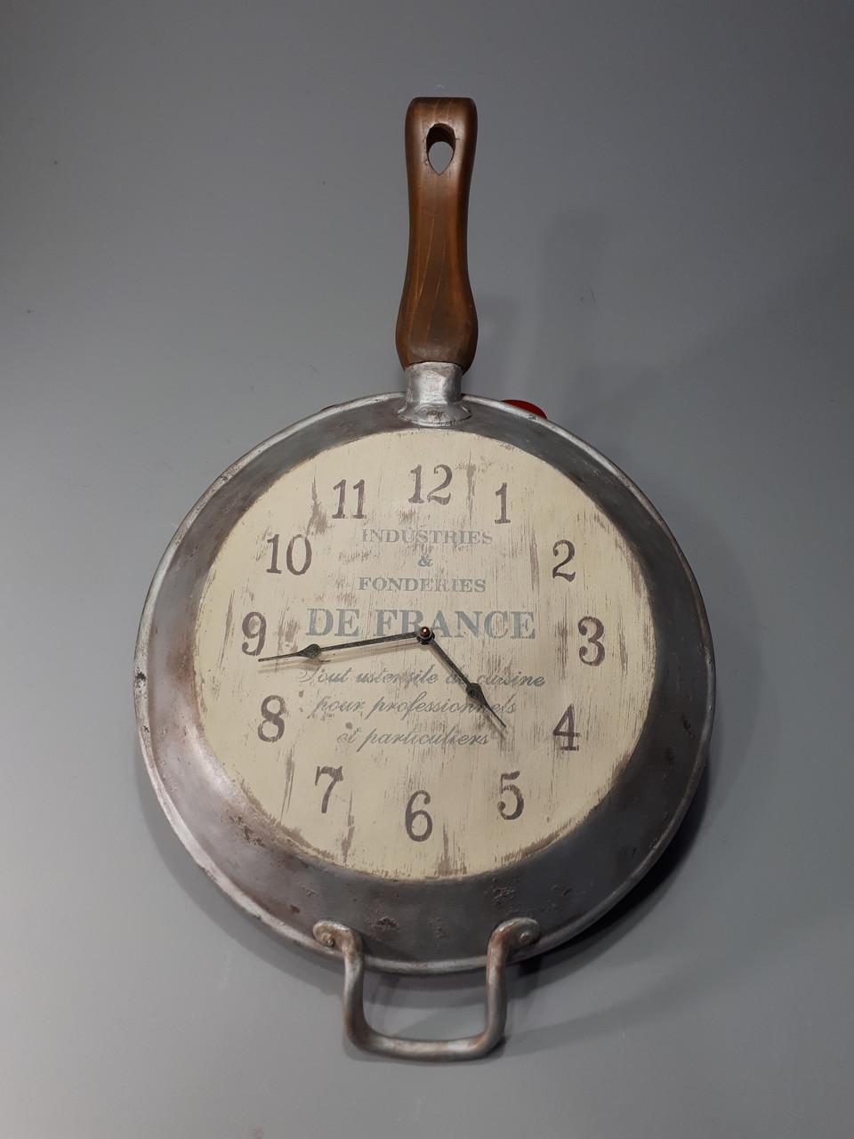 Часы настенные деревянные Прованс(Сковородка)