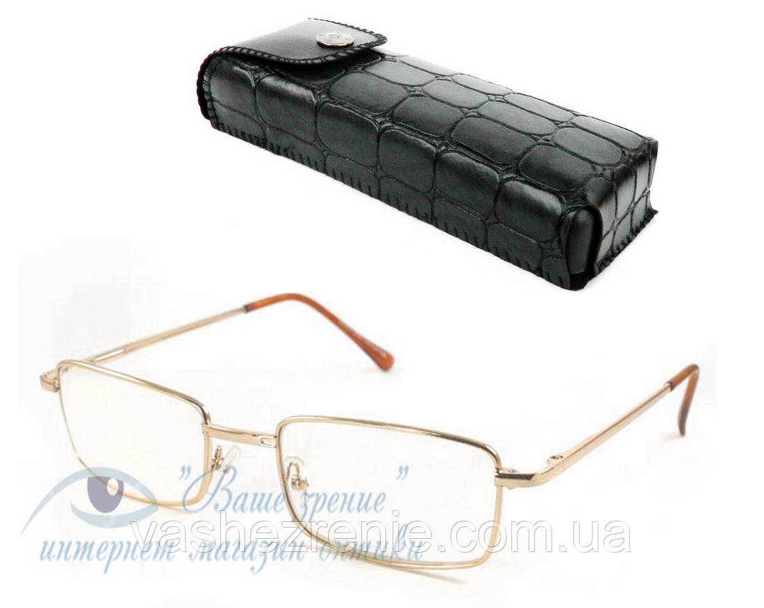 Очки для зрения +/- (линзы стекло)  Код:2190