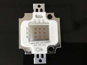 Светодиод матричный PREMIUM СОВ для прожектора SL-10 10W 300mA красный (45Х45 mil) Код.59174