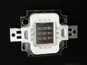 Светодиод матричный PREMIUM СОВ для прожектора SL-10 10W 900mA красный (45Х45 mil) Код.59176