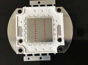 Светодиод матричный PREMIUM СОВ для прожектора SL-20 20W желтый (45Х45 mil) Код.59170