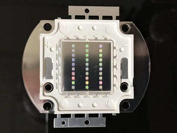 Светодиод матричный PREMIUM СОВ для прожектора SL-30 30W синий (45Х45 mil) Код.59166