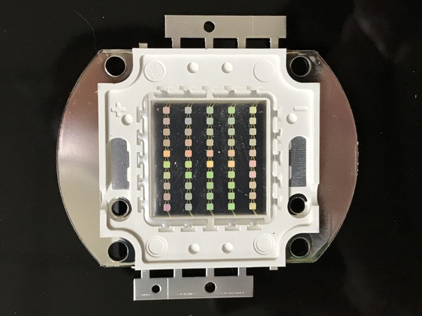 Светодиод матричный PREMIUM СОВ для прожектора SL-50 50W зеленый (45Х45 mil) Код.59165