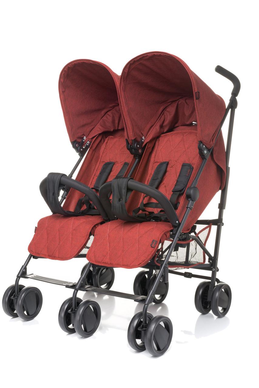 Детская прогулочная коляска для двойни 4baby TWINS