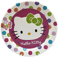 "Тарелки бумажные одноразовые ""Хеллов Китти, Hello Kitty"" 10 шт"