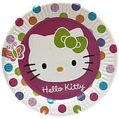 """Тарілки паперові одноразові """"Хеллов Кітті, Hello Kitty"""" 10 шт"""