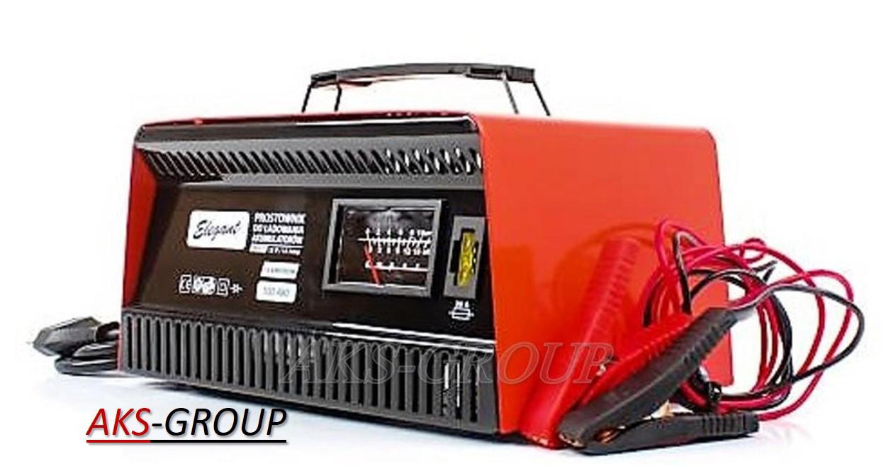 Трансформаторное ЗУ 12V 15А для авто и мото АКБ Elegant Maxi  EL 100 480