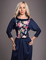 Платье с цветами 50-52 размер