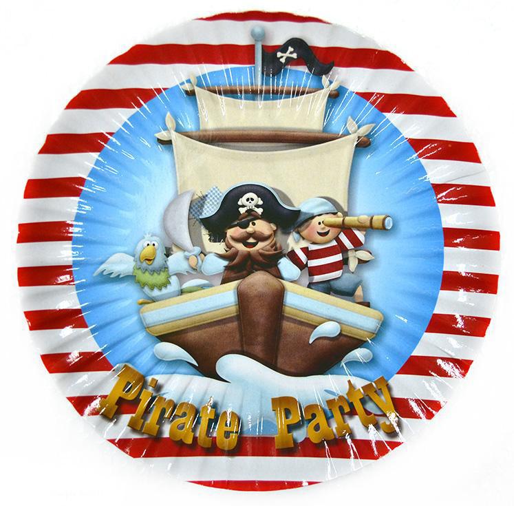 "Набор тарелок 10 штук ""Пираты"" размер 180 мм"