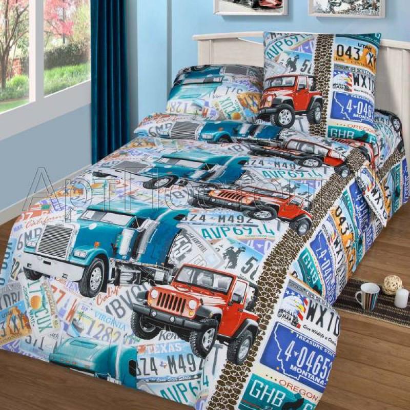 Постельное белье Автобан бязь ТМ Царский дом в кроватку