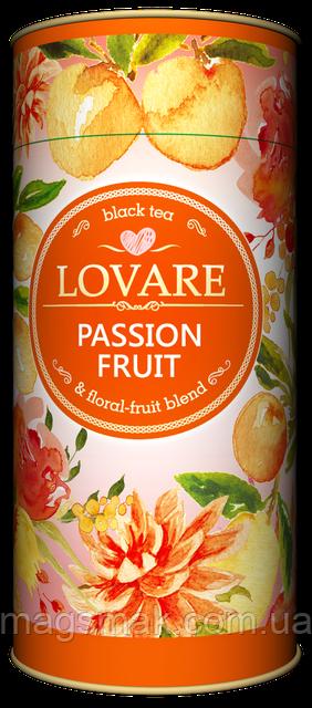 Чай в подарочной упаковке Lovare Cтрастный фрукт, тубус, 80 г
