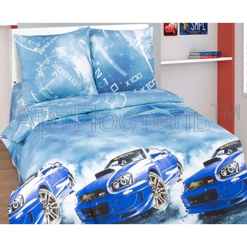 Постельное белье Форсаж (Subaru) поплин ТМ Царский дом в кроватку