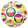 """Набор тарелок 10 штук """"Кексы"""" размер 180 мм"""