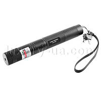 Фонарь-лазер зеленый JD-303, 1x18650, ЗУ 220V, ключ блокировки, ремешок на руку, комплект
