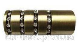 картинка наконечник карниза цилиндр с кристаллами kar-deko.com