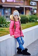Зимняя куртка для девочки. Плащевка на синтепоне 200 + флис. Размер 128, 134, 140, 146, 152. Разные цвета