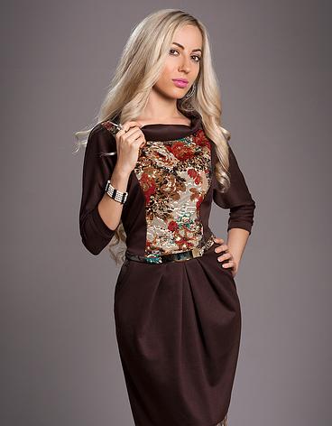 Платье с цветами 52 размер, фото 2