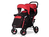 Детская коляска для двойни EasyGo Fusion Duo scarlet