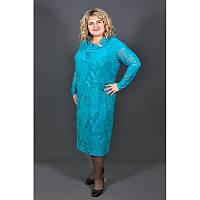 Платье Феерия большого размера (58, 60, 62, 64, 66), женское платье батал голубое