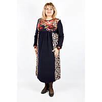 Платье Люция (ангора) большого размера  (58-60, 62-64, 64-68), женское платье батал