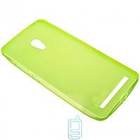 Чехол силиконовый цветной ASUS ZenFone 6 зеленый