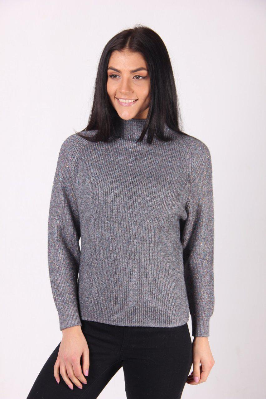 0c908177a4c Молодежный серый свитер с люрексом - Оптово-розничный магазин одежды
