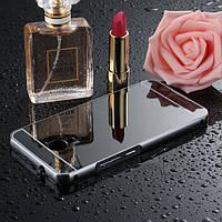 Чехол для Meizu M5s зеркальный черный, бампер, накладка, чохол