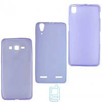 Чехол силиконовый цветной Lenovo A368 Фиолетовый