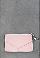 Женская кожаная косметичка Барби, розовая пудровая