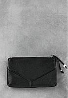 Женская кожаная косметичка Оникс, черная