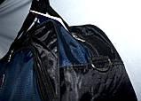Универсальная спортивная дорожная сумка 58*35 см синяя, фото 3