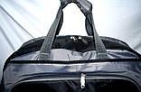 Универсальная спортивная дорожная сумка 52*31 см черная, фото 3