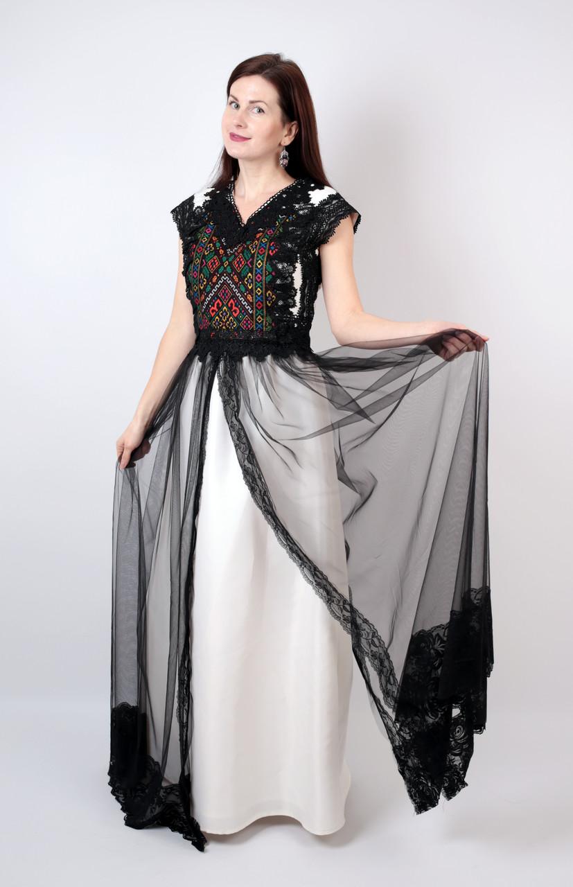 40703b9092d453 Довга дизайнерська вишита сукня ручної роботи: продажа, цена в ...