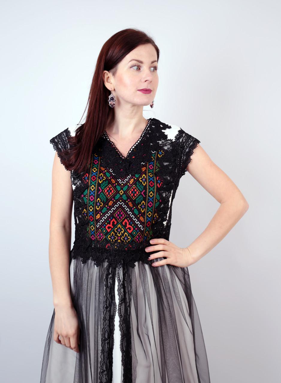 Довга дизайнерська вишита сукня ручної роботи  продажа 90701d99615c7
