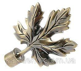 фото Карниз металлический двойной  наконечник клен kar-deko.com