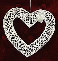 Декорация, Сердце вязанное крючком, 15х15 см, Подарки к дню святого Валентина, фото 1