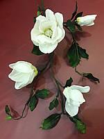 Цветы искусственные Магнолия ветка