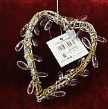 Сердце декоративное, лоза кристалл, размер:12х9 см, подвеска, Романтические подарки, Днепр, фото 2