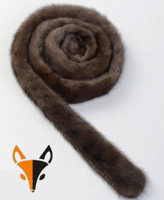 Пояс из коричневого меха норки, ФОТО