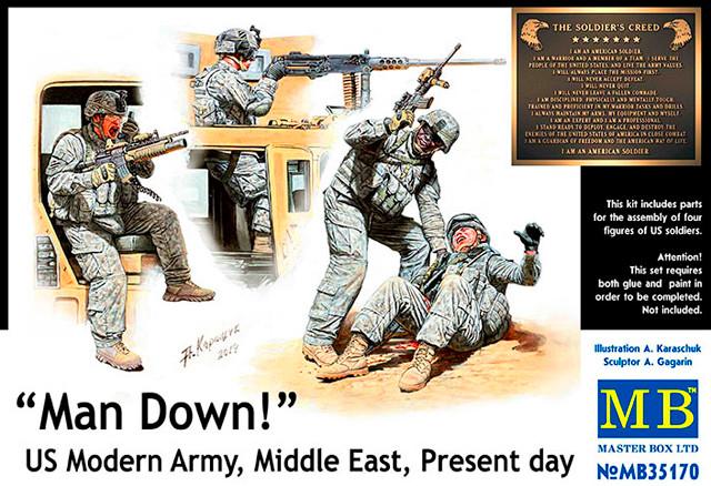 У нас «трехсотый»! Американская современная армия, Ближний Восток, наше время. 1/35 MASTER BOX 35170
