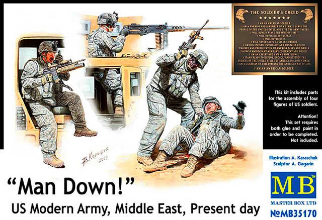 У нас «трехсотый»! Американская современная армия, Ближний Восток, наше время. 1/35 MASTER BOX 35170, фото 2