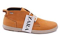 Мужские кожаные ботинки Zara